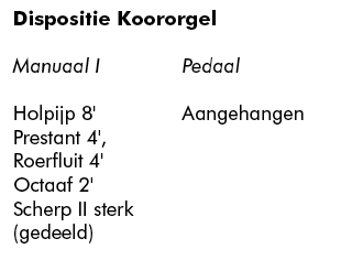 dispositie koororgel